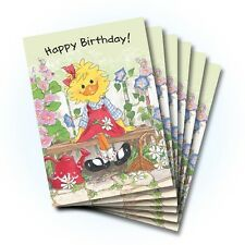 Suzy's Zoo Happy Birthday Greeting Card 6-pack 10218