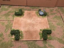 """28mm, Painted Terrain, 5"""" road Intersection w/ 40mm hedges (B)"""
