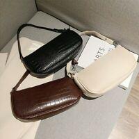 Female baguette shoulder bag armpit handbag Retro crocodile pattern messenger