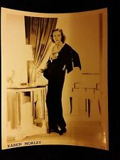 Karen Morley 1930s Vintage 8x10 Black & White Movie Glamour Photo Press