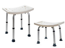 New 7 Height Adjustable Medical Shower Bench Bathtub Bath Chair Seat Stool White