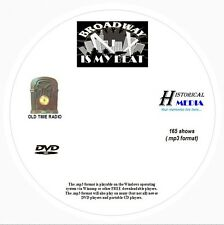 BROADWAY IS MY BEAT - 165 Shows Old Time Radio In MP3 Format OTR On 1 DVD