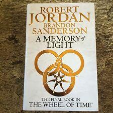 A MEMORY OF LIGHT Jordan & Sanderson 1st ed UK HC SIGNED (AUTOPEN?) by Jordan