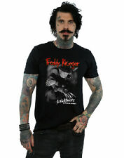 A Nightmare On Elm Street Hombre Freddy Black And White Photo Camiseta Negro