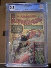 Amazing Spider-Man #14 CGC GD+ 2.5 Off White to White 1st Green Goblin!