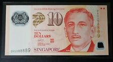 Singapore $10 Polymer Potrait Banknote With Fancy Number 2KU 288889