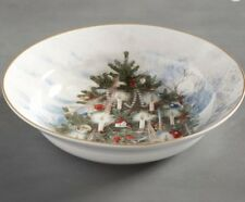 Pottery Barn NOSTALTGIC TREE Serving BOWL Christmas Holiday New!sold out