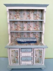 1/12 Dolls House Shabby Chic Look Welsh Dresser Upstyled By Me