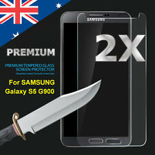 2X Tempered Glass Film Screen Protector Cover Guard For Samsung Galaxy S5 G900I