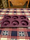 Tupperware Silicone Baking Mold Ring Form Doughnut Pan Purple  Cabbage Used