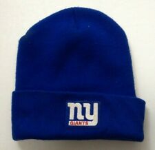 Adult Blue NY Giants Winter Hat Ski Skull Cap - Adult One Size