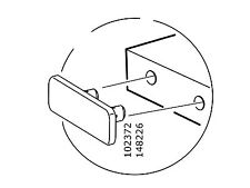 4 IKEA 102372 or 148226 FITS SOME IKEA DRESSERS AND BED FRAME MALM BRIMNES HOPEN