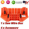 Miter Saw Box Woodworking Wooden Measuring Scale Carpenter Hand Saws Accessories