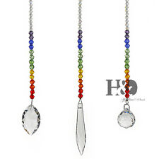 Set 3 Rainbow Maker Crystal Suncatcher Prism Pendant Wedding Window Garden Decor