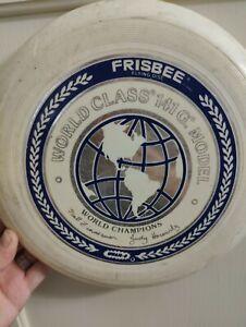 Vintage WHAM-O World Class Frisbee 141G White World Champ Flying disc