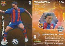 N°386 RONALDINHO BRAZIL FC.BARCELONA ESTRELLAS MEGACRACKS CARD PANINI LIGA 2006