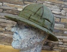 Lawrence and Foster Green and Brown Check Tweed Ghillie Hat Size 7 1/8 or 58 New