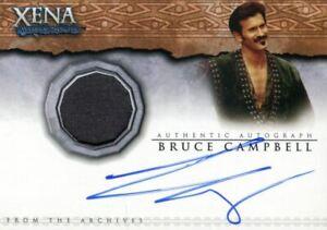 Xena Dangerous Liaisons Bruce Campbell Autograph Costume Card AC11