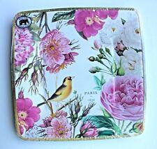 *MICHEL DESIGN WORKS Set 8 Square Luncheon/Dessert Paper Plates ~  Rose Garden