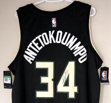 Giannis Antetokounmpo Autographed Bucks Signed NBA Auto Statement Jersey JSA COA