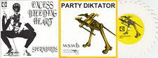 "SPERMBIRDS / PARTY DIKTATOR Excess Bleeding Heart 7""(1992 Empty) Sawblade Col."