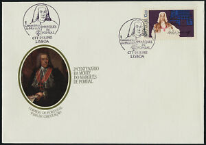 Portugal 1553 on FDC - Marques de Pombal