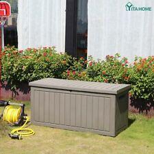 Yitahome 76 Gallon Resin Deck Box Bin Storage Organizer for Patio Garden Outdoor