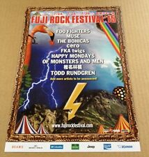 2015 Fuji Rock Festival Japan flyer/mini poster /Muse Foo Fighters Todd Rundgren