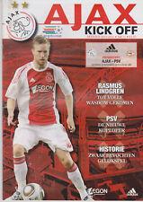 Programma / Programme Ajax Amsterdam v PSV Eindhoven 20-11-2010