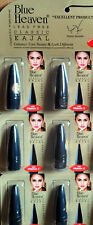 6 X Pcs Blue Heaven Classic Kajal Long Lasting Water Resistant BLACK Free Ship