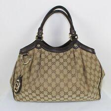 Authentic GUCCI 211944 Sukey Tote Bag GG canvas Women