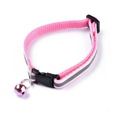 Cat Collar With Bell Adjustable Size Reflective Multiple Colors Ships Same Day