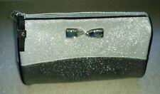 Victorias Secret Silver COSMETIC BAG Rhinestone   Makeup Case NEW