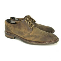 Cole Haan Men's Zerogrand Brown Oxford Shoes Size 9.5 M Wingtip Brogue Suede