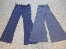 2 Homemade Bell Bottom Flares Jeans, 1970s