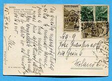 1947 AVV.REPUBBLICA £.1 DUE ESEMPLARI + DEM.£.£.1 x 2   ann.ROMA  (248347)