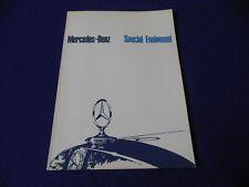 Original 1966 Mercedes Benz Special Equipment Full Line Brochure 230SL 300SE