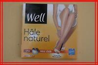 WELL HALE NATUREL Taille 3 NEUF Collants hale clair voile léger ceinture libérée