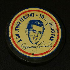 1955 MAURICE RICHARD MONTREAL CANADIENS - 500th GOALS SOUVENIR PUCK RARE VERSION