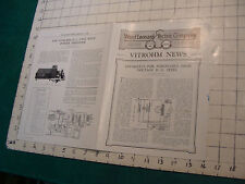 Vintage brochure: Ward Leonard Electric Co. VITROHM NEWS march 1928
