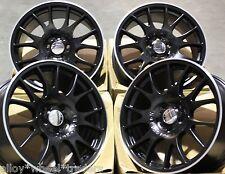 """18"""" BLACK CH ALLOY WHEELS FITS 5X98 ALFA ROMEO 147 156 164 GT FIAT 500L DOBLO"""