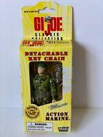 "1998 GI Joe Detachable Key Chain 4"" Articulated ACTION MARINE Sealed"