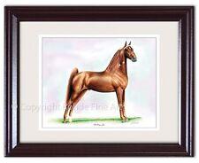 New listing Strolling Jim - Framed Tennessee Walker walking Horse Art painting signed Nice