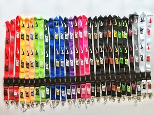 Dodge Lanyard White with Red Logo 1 inch x 22 inch Key Chain ID Badge Card Holder Hanger