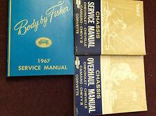 1967 GM Chevy Chevelle Camaro Chevy II Corvette Service Shop Manual Set OEM