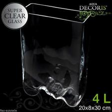 Aquael Decoris Vasque Déco verre récipient vase aquarium Vague 4L 30cm