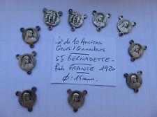 LOTde 10 ancien coeur connecteur Sainte BERNADETTE fabrication  France 1920