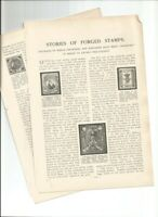 1903 STORIES OF FORGED STAMPS INVETED COUNTRIES PHILATELISTS ARTICLE 2 PAGES