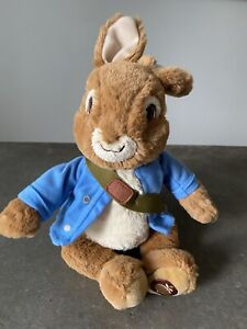 "Peter Rabbit Plush 4042617 Gund 12"" Coat Knapsack Plush Nursery Baby Gift"