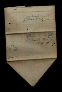 1845 Hamilton, NY stampless - GREAT LETTER, Colgate University Student Report !